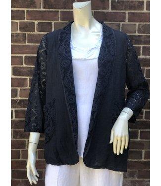 Navy Lace Jacket