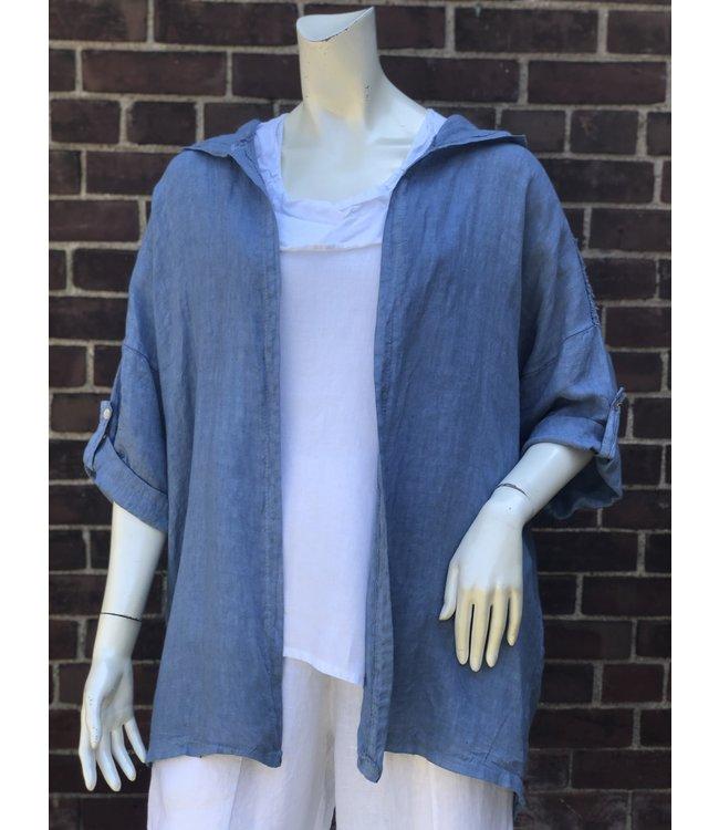 Angela Mara Light Blue Jacket