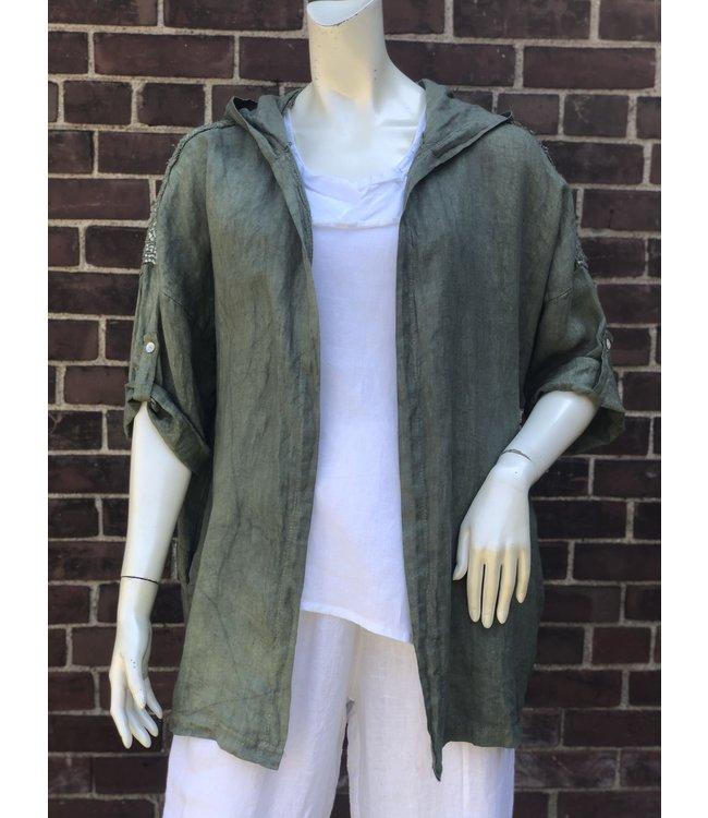 Angela Mara Khaki Green Jacket