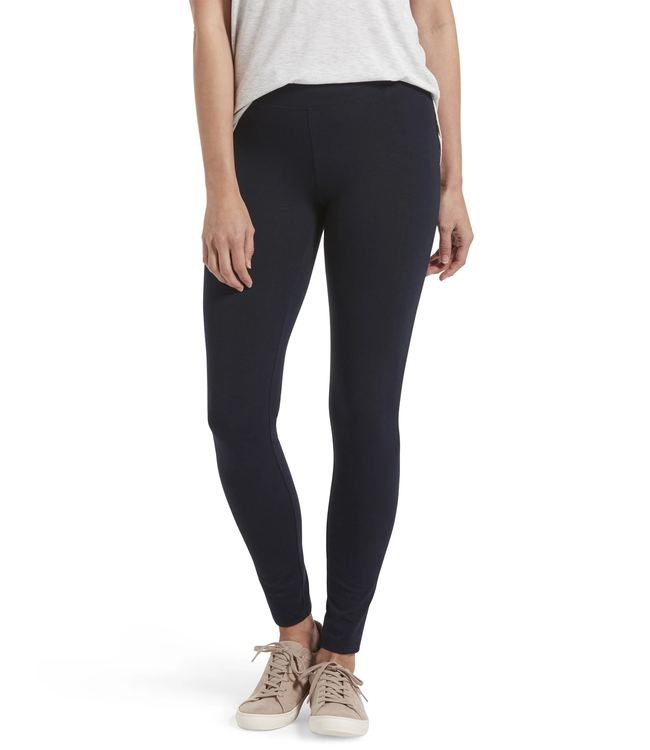Hue Navy Leggings with Wide Waist Band