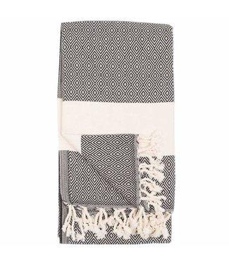 Pokoloko Turkish Towel - Black Diamond