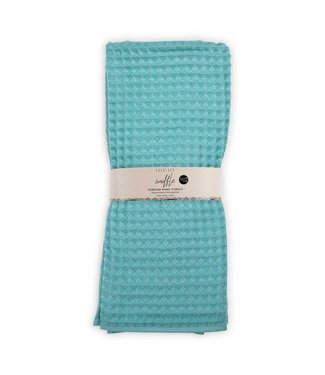 Pokoloko Hand Waffle Towel - Pool (Pack of two)