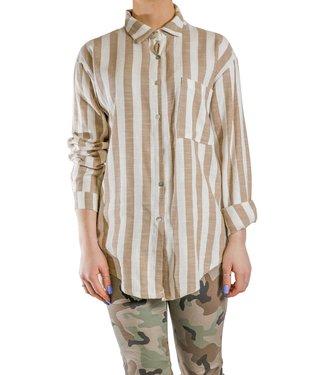 Pure Venice Striped Linen Shirt**