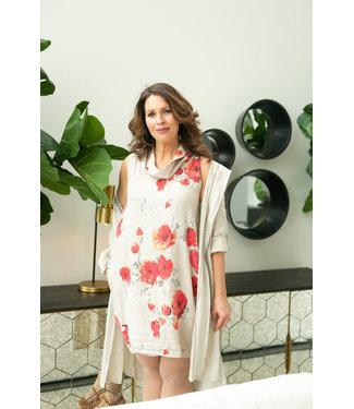 White Flowered Tunic/Dress