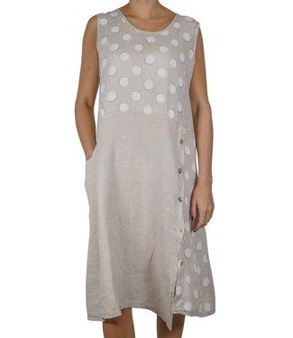 Pure Venice Beige Polka Dot Dress