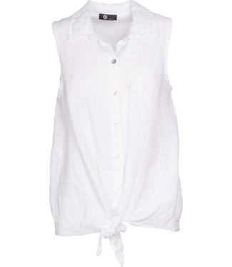 M Made in Italy White Linen Shirt