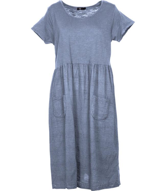 M Made in Italy Denim Blue Dress