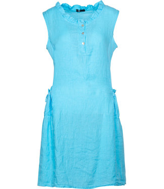 M Made in Italy Turquoise Sleeveless Dress