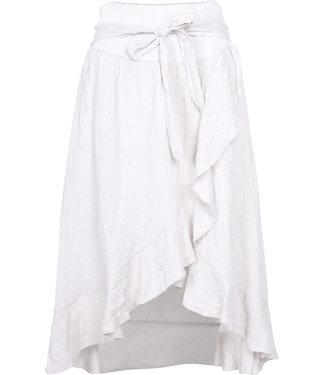 M Made in Italy White Linen Skirt