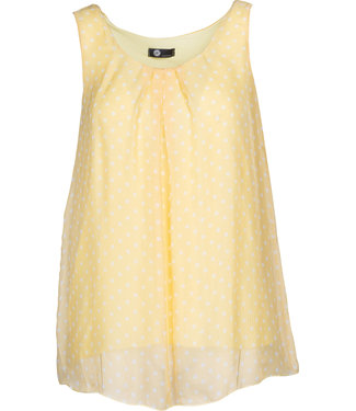 M Made in Italy Yellow Polka Dot Top