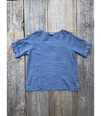 Linen Blue Basic Top