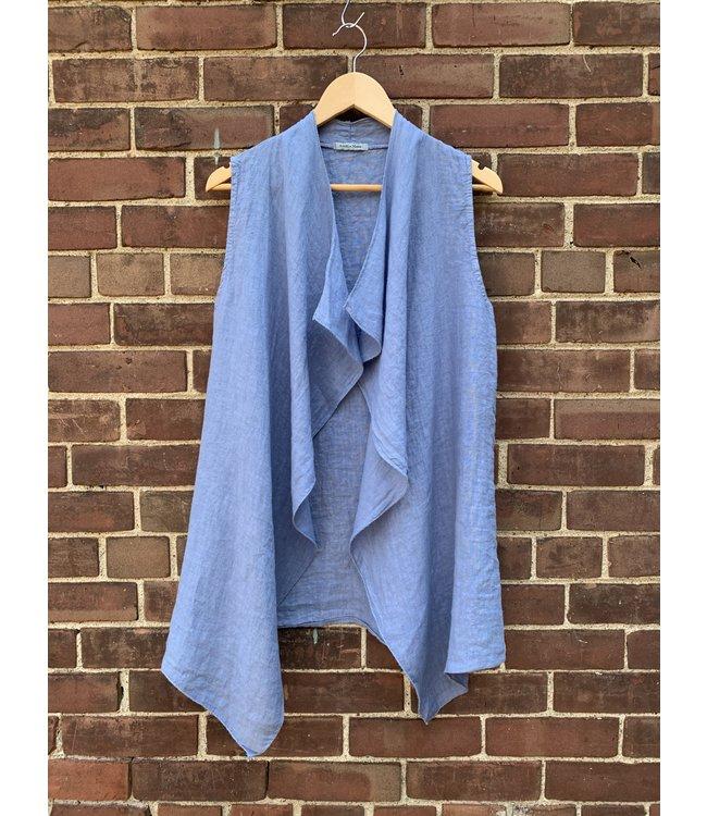 Angela Mara Blue Vest