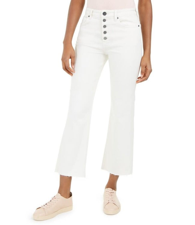 KUT Jeans Crop Straight Jeans - Off White