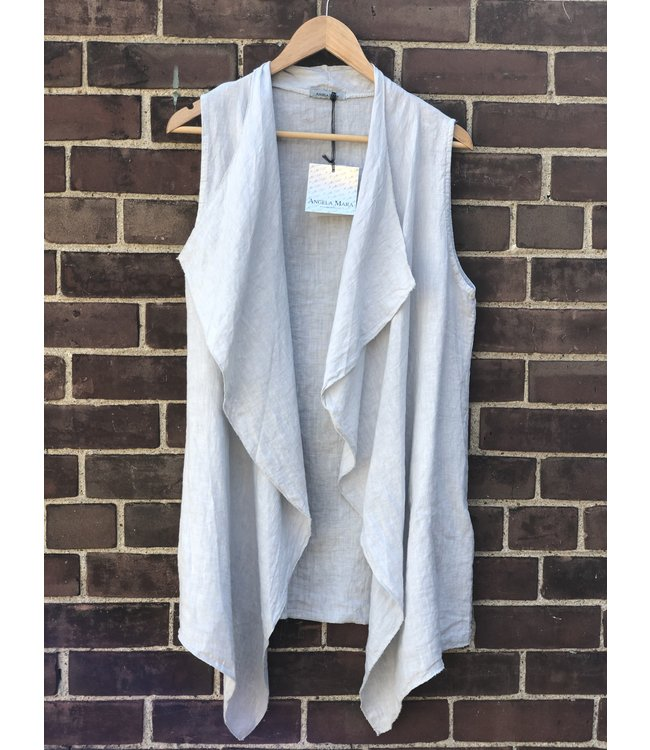 Angela Mara Grey Vest