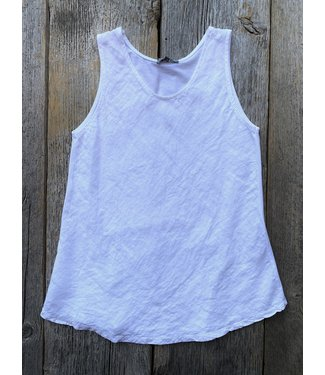 Angela Mara Bias Cut Tank Top - White  **