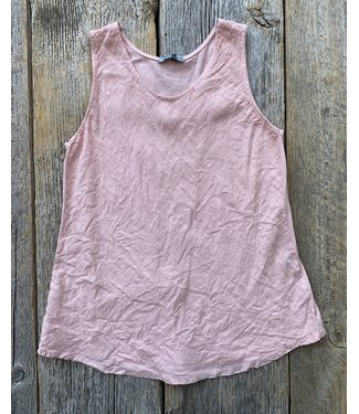 Angela Mara Bias Cut Tank Top - Pink **