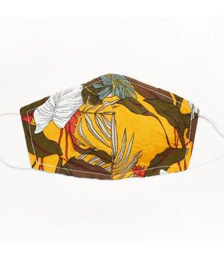 Pink Martini Face Mask (Reversible) - Jungle - yellow
