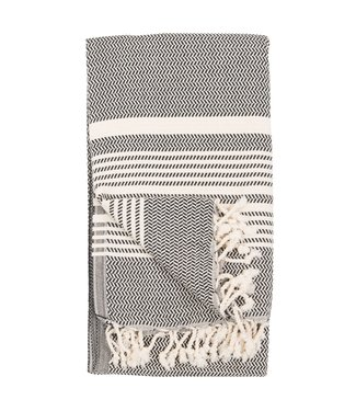 Pokoloko Turkish Towel - Hasir - Carbon