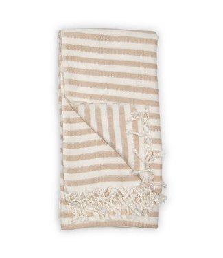 Pokoloko Turkish Towel - Zebra Bamboo - Beige