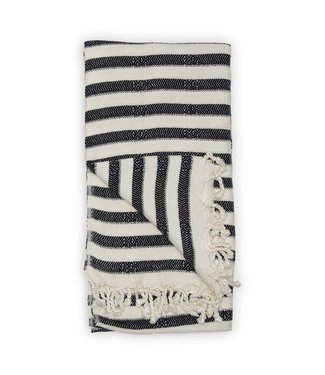 Pokoloko Turkish Towel - Zebra Bamboo - Black