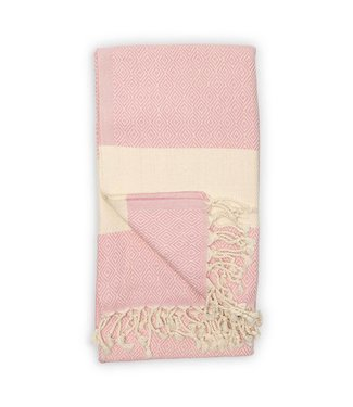 Pokoloko Turkish Towel - Diamond - Light Pink