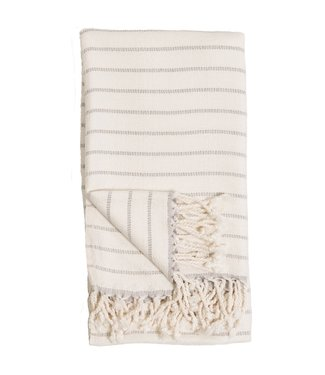 Pokoloko Turkish Towel - Bamboo Stripe - Mist