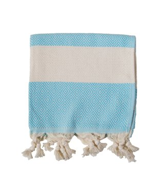 Pokoloko Turkish Hand Towel - Diamond - Aqua