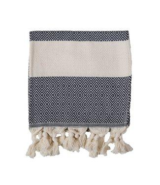 Pokoloko Turkish Hand Towel - Diamond - Carbon