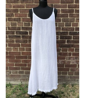 Angela Mara White Maxi Dress