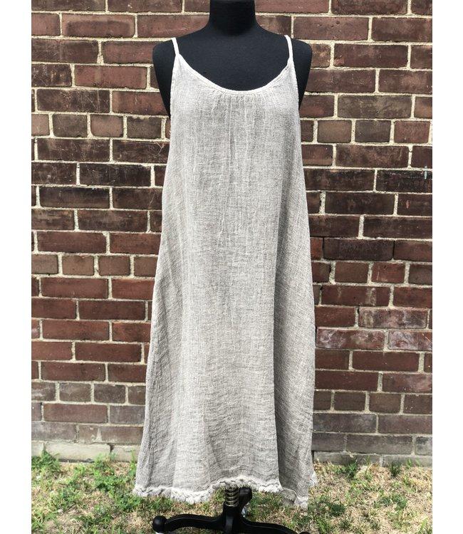 Angela Mara Sand Maxi Dress