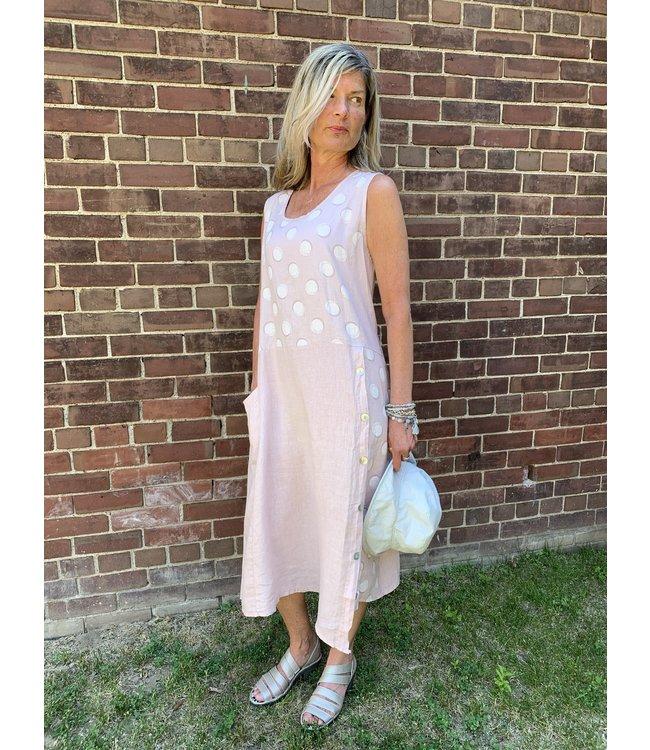 Pure Venice Pink Polka Dot Dress