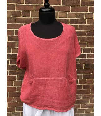 Two Pocket Top - Terracotta