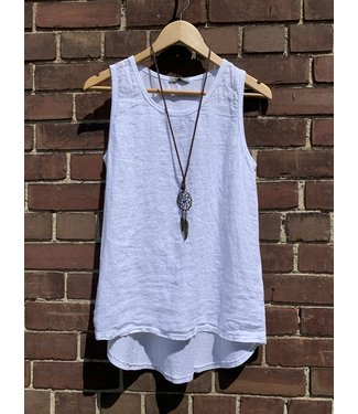 Angela Mara Tank Top with Necklace