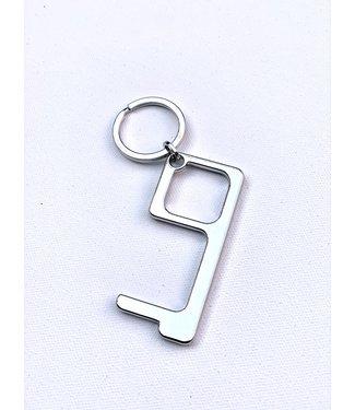 Door Opener Key Chain - Silver