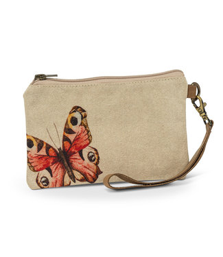 Butterfly Zip Pouch with Strap