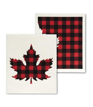 Check Leaf Dishcloth - Set of 2