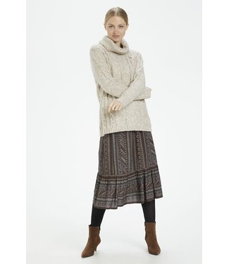 Cream Knit Pullover - chateau gray