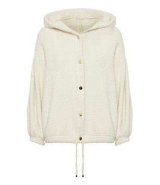 Cream Teddy Jacket - birch