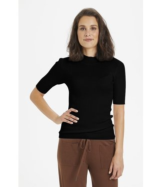 Kaffe Turtleneck with Short Sleves
