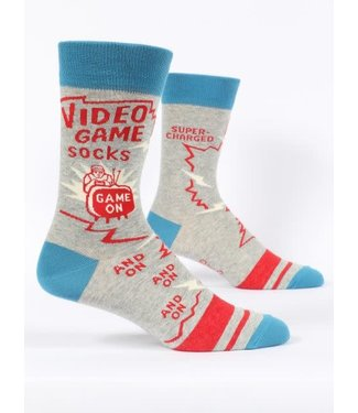 Blue Q Crew Socks - Video Game