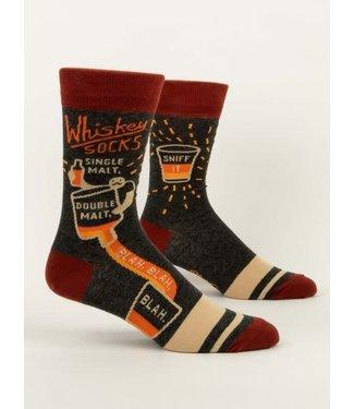 Blue Q Crew Socks - Whiskey Socks