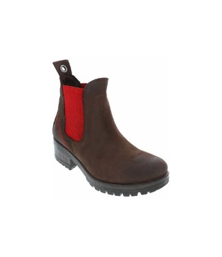 Bueno FLORIDA Booties - Brown Natural/Red