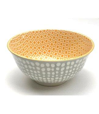 Bowl - medium - Dots/Yellow