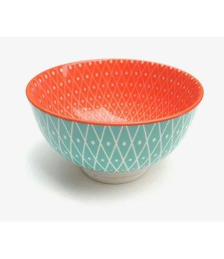 Bowl - small - Geo/Orange