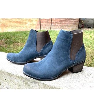 Bueno Keri Nubuck Bootie - Blue/Grey