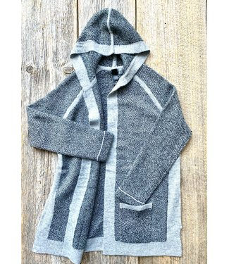 Point Zero Open Cardigan with Hood