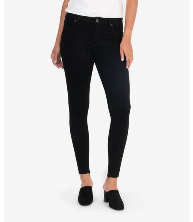 KUT Jeans DONNA High Rise Ankle Skinny - Raw Hem