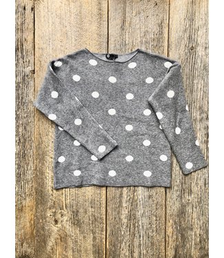 M Made in Italy Polka Dot Sweater