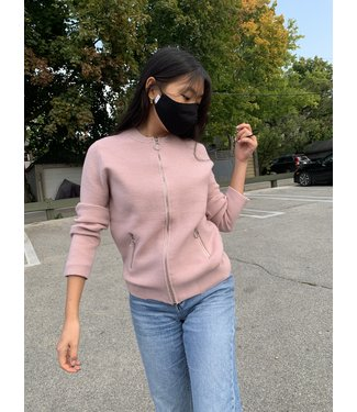 Point Zero Zip Front Bomber Style Sweater