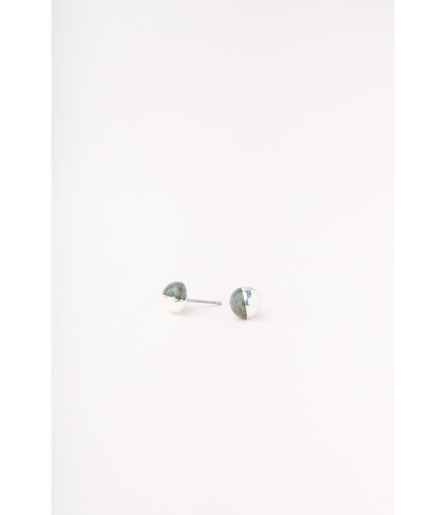 Scout Dipped Stone Stud Earrings - Labradorite/Silver